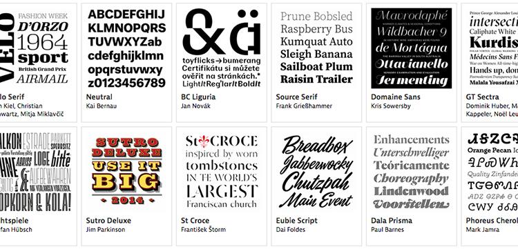 Typographica Typefaces Of 2014